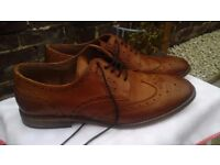 Mens Size 9 Tan Leather Brogues