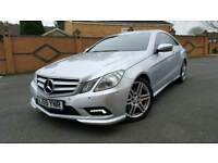 MERCEDES E350 CDI AMG COUPE RED LEATHER FULLY LOADED E CLASS SPORT BLUEEFICENCY W207