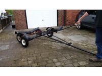 Roll on/off dinghy launching dolly & road trailer