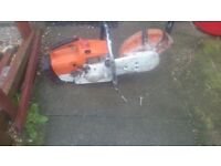 Stihl ts 400 concrete saw,,needs work to get it going,,