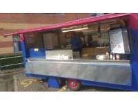 14 x 7 ft burger van/ catering trailer