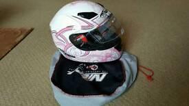 Ladies pink Nitro Crash Helmet