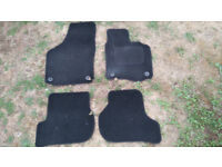 Set of 4 car mats for VW Golf Mk 5, Mk 6. Black.