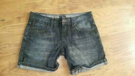 Next denim shorts size 8