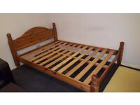 Very Solid Pine Double Bed frame for sale in good condition