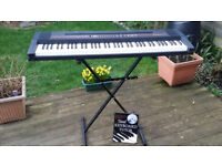 Roland Ep-77 Digital Piano (76 Weighted Keys), Stand & Teaching Book