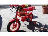 Child Fireman's Bike with stabliisers - very good condition.