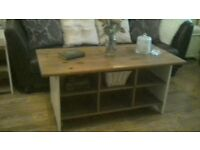Shabby chic/ Country style solid wood Coffee Table