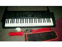 Casino Keyboard & Stand, Brand New Music stand and Power Pack