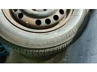 Set of 4 vauxhall Astra Tyres excellent condition