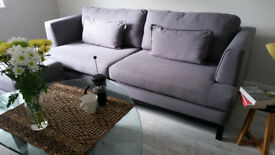 4-seater DFS French Connection sofa and footstool