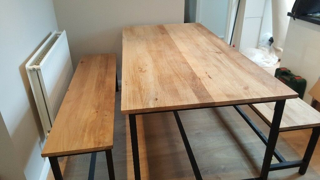 Dining table and 2 benches