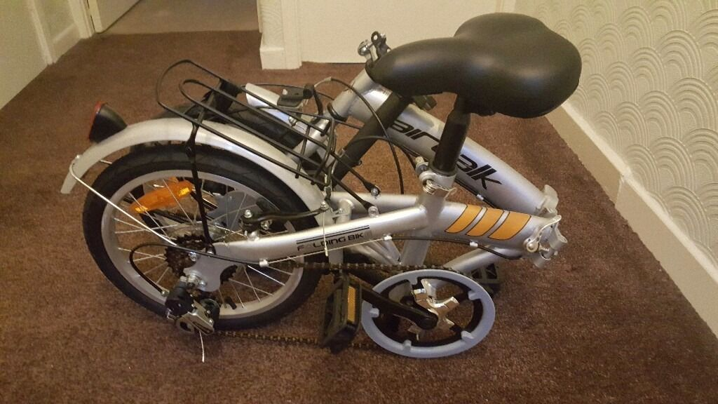 Fold up unisex silver bike