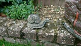 Garden ornaments snail