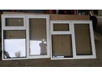 Two white PVC windows