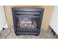 Live Fuel Effect Gas Fire with Surround