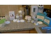 Avent electric breast pump and all Breastfeeding essentials