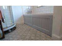 Laura Ashley Mr Jones Ceramic floor tiles in charcoal grey