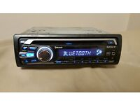 CAR HEAD UNIT SONY MP3 CD PLAYER WITH BLUETOOTH AUX 4x 52 AMPLIFIER AMP STEREO RADIO BT