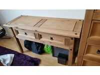 Corona pine 2 drawer dressing table/console table