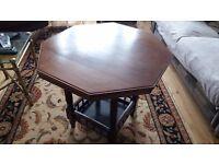 Dark hard wood side table
