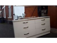White dressing table with mirror. FREE delivery in Derby