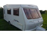 2003 Fleetwood vanlander 450/4 lightweight 4 berth luxury touring caravan.Motor mover & Awning inc