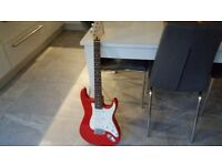Cruiser Crafter red & white electric guitar
