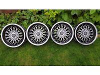 "16'Classic alloys""BORBET B 16s "" 4X98/4x100 all width J7,5 BMW,VW,FIAT,LANCIA..etc pcd"
