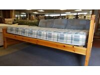 Pine Single Bed & Mattress