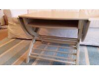 Ikea antique look, drop leaf oval coffee table