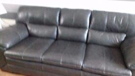 Dfs dark grey leather sofa