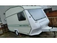 Cheap 2 berth caravan + awning Swap /px