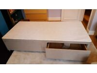 Single divan bed - two drawers, nearly new