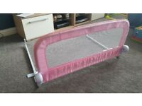 Girls pink bed rail