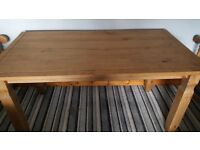 Wooden diningroom table. FREE