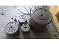 Iron cast free weight 120kg with barbells and dumbells