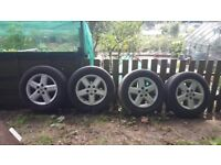 ALLOY WHEELS WITH TYRES (USED)