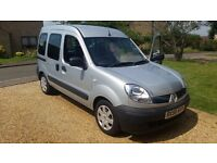 Renault Kangoo Disability Adapted Wheelchair Accessible Vehicle Car 1.2L Authentique Ramp