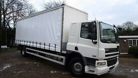 2007/57 DAF CF 18 TON BOX CURTAIN SIDE LORRY + TAIL LIFT + IDEAL SCAFFOLD TRUCK