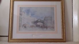 4 Framed, limited edition numbered, Turner prints published by National Galleries of Scotland