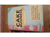 Set of cake baking and decorating books & cake business from home