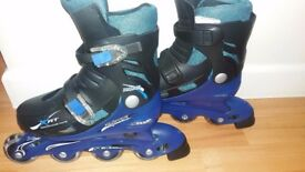 Childrens Blue/Black inline skates unisex