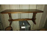 antique coffee table - dark wood
