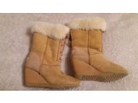 LFA (Love From Australia) Genuine Sheepskin Wedge Ugg Boots - Size 5-6