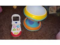 ELC drum with lights and music and toy phone with sounds