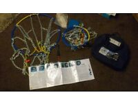 TRX pro 16mm diamond heavy duty snow chains NEW in carry storage bag, with full instructions