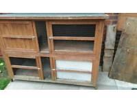 Double Rabbit hutch for sale £50