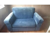 Blue sofabed