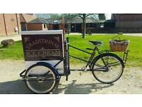 PASHLEY ICE CREAM TRICYCLE TRIKE BIKE CART VAN BICYCLE FOR SALE